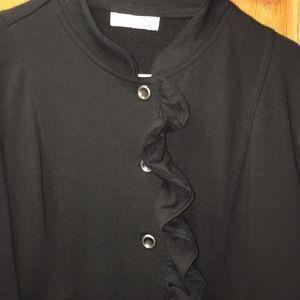 Marisa Christina Women's Black Ruffled Jacket